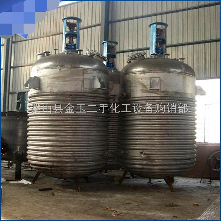 二手5吨搪瓷反应釜现货供应