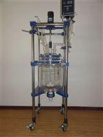 双层玻璃反应釜价格,玻璃反应器生产厂家